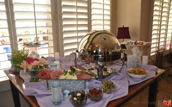 bridal shower cinderella buffet